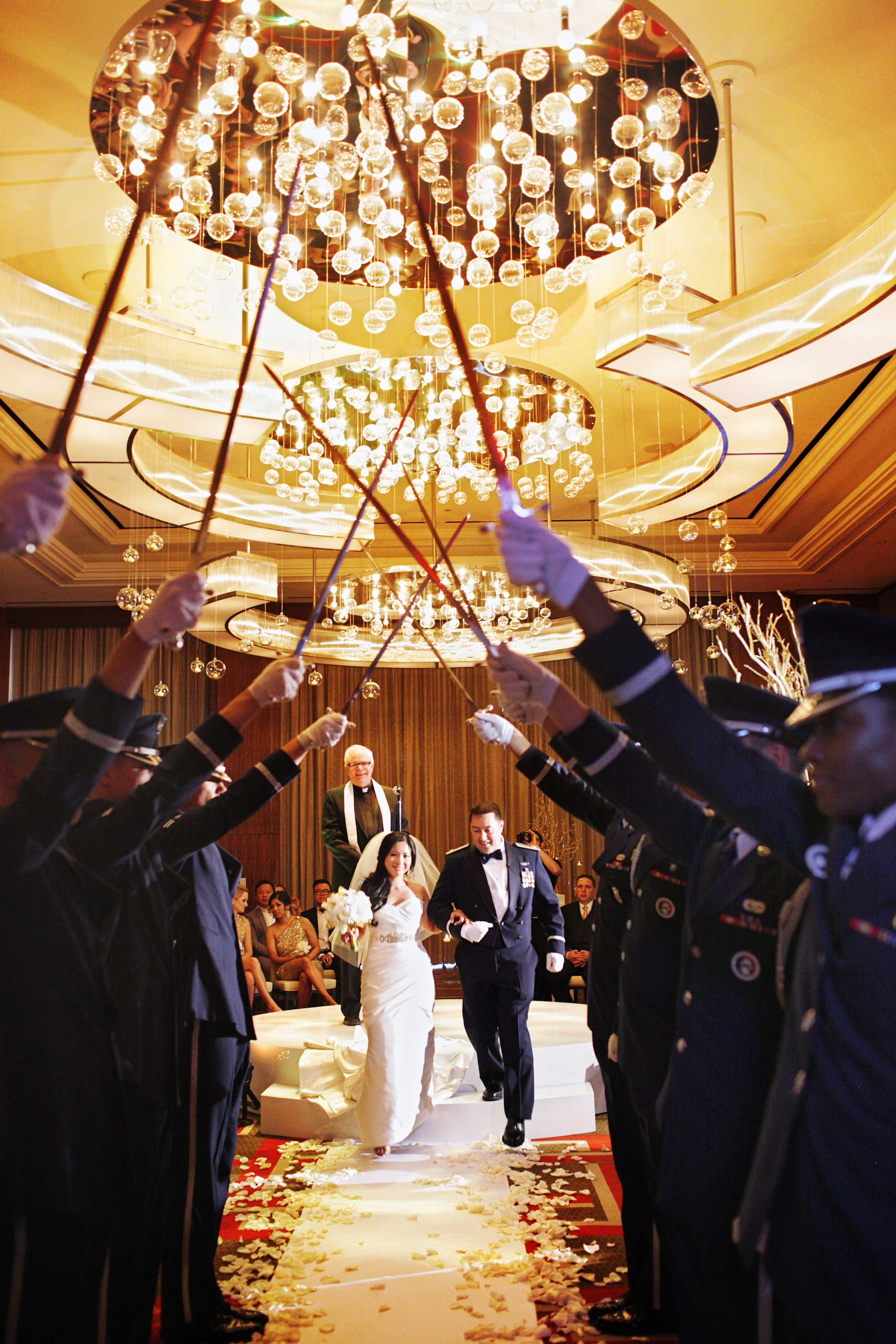 Honor Guard at wedding
